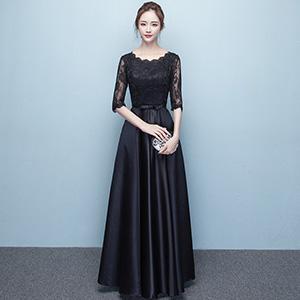 情海银纱 端庄大气晚礼服