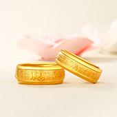 钻石快线 百福黄金戒指