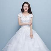 蜜之姻 显瘦齐地婚纱礼服