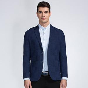 才子(TRiES) 时尚格纹修身西服