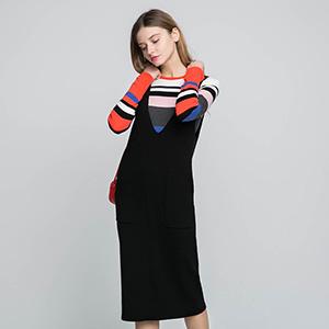ONLY 冬季新条纹连衣裙女