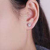 卡蒂诺(D.Forever) 钻石耳钉