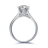 菲钻 经典皇冠六爪钻石戒指