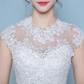 蜜之姻 韩式修身一字肩婚纱礼服