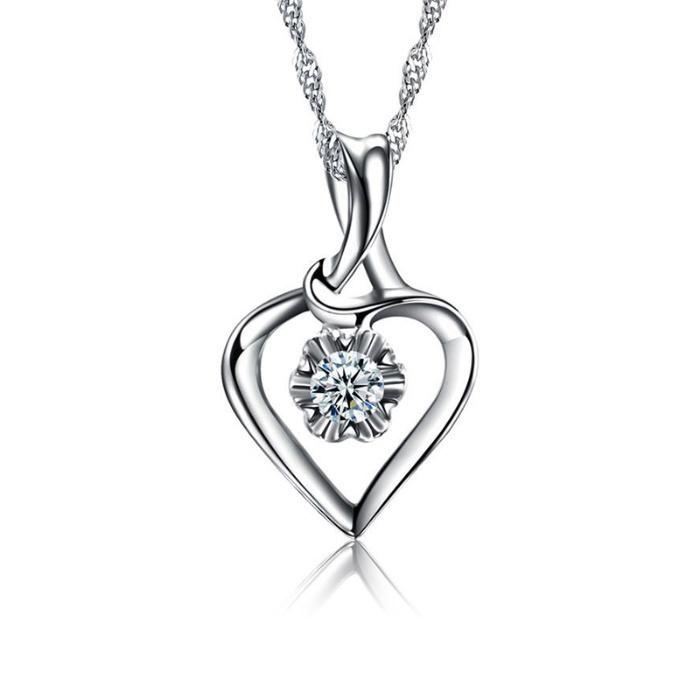 黛贝林(DOUBLE-RING) 心形钻石项链