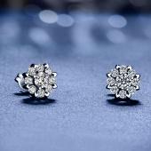 喜钻 群镶钻石耳钉